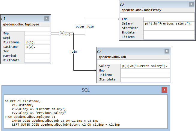 Outerjoin (Visual Query Relation)